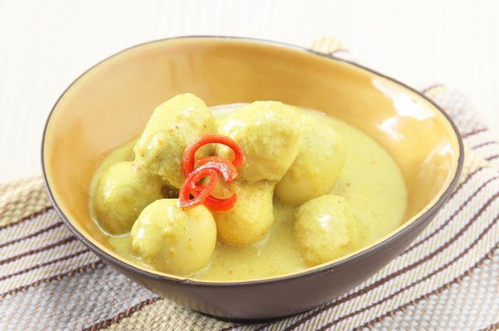 Resep Telur Puyuh Kuah Santan Kuning