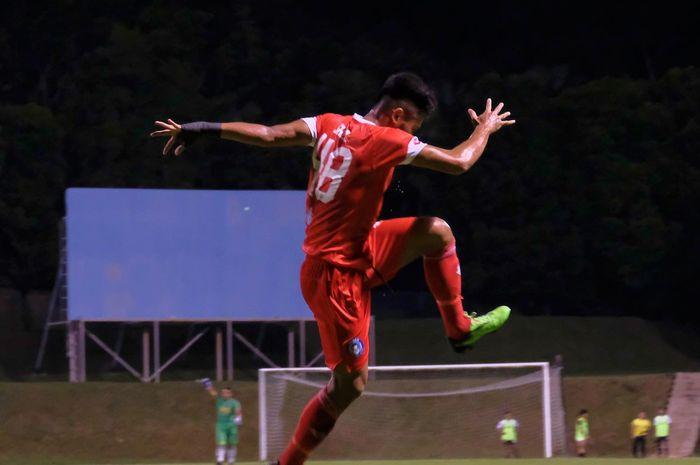 Saddil Ramdani kembali mencetak gol dalam laga ujicoba Sabah FC saat melawan skuad Proyek FAM-MSN pada Selasa (30/3/2021).