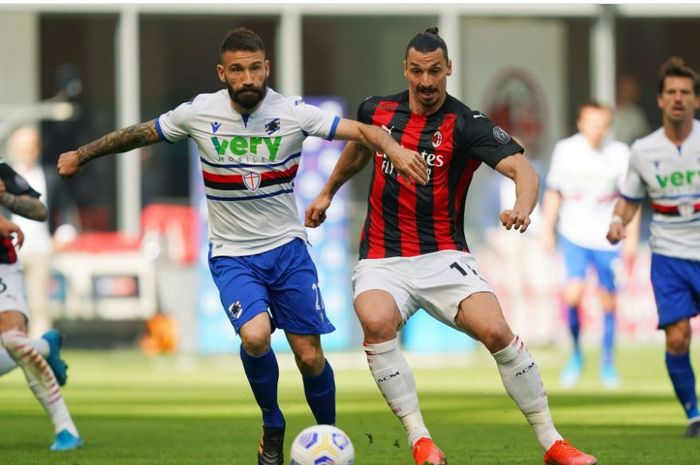 Rekan Erling Haaland jadi penyelamat, sementara AC Milan hanya imbang lawan sepuluh pemain Sampdoria.