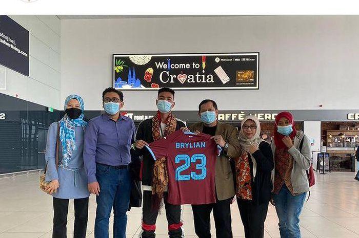 Brylian Aldama bersama Kedubes Indonesia di Kroasia