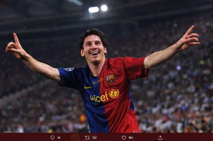 Megabintang Barcelona, Lionel Messi saat masih muda.