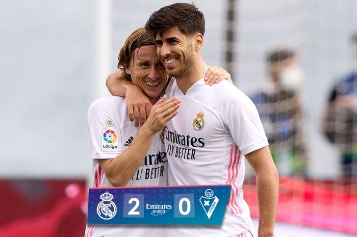 Real Madrid menekuk Eibar dalam lanjutan Liga Spanyol, 3 April 2021.
