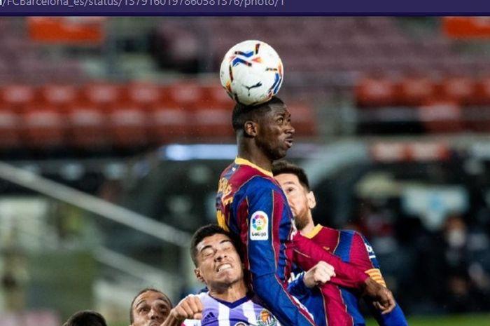 Pemain yang dijuluki bocah nakal, Ousmane Dembele, jadi penyelamat ketika Barcelona jadi tim paling sial saat melawan 10 pemain Real Valladolid.