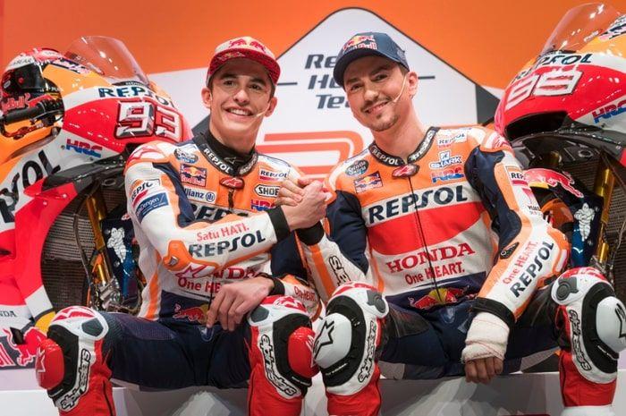 Marc Marquez dan Jorge Lorenzo di launching tim Repsol Honda 2019