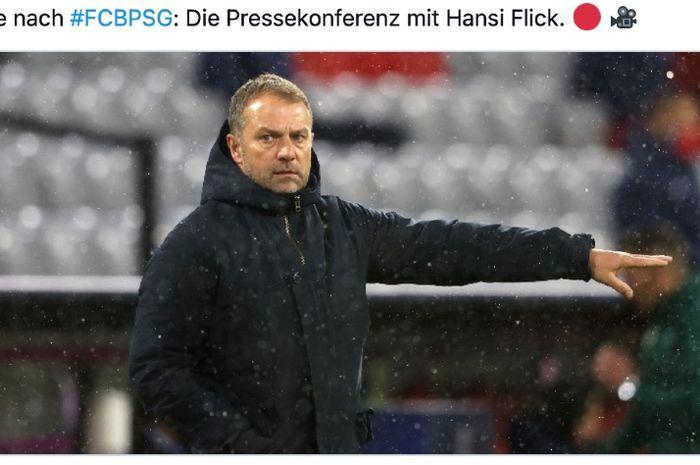 Pelatih Jerman, Hans-Dieter Flick.