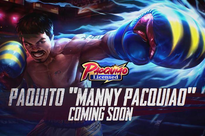 Skin legenda tinju, Manny Pacquiao di Mobile Legends resmi meluncur.