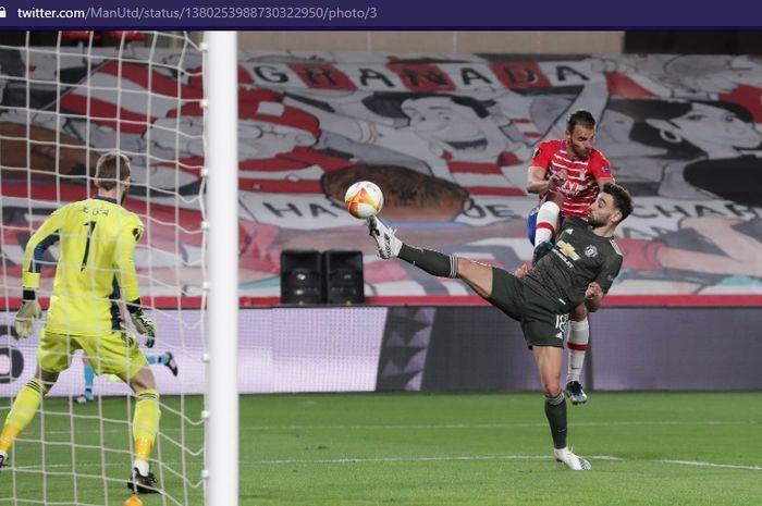 David de Gea diturunkan dalam laga Manchester United vs Granada, Jumat (9/4/2021) dini hari WIB.
