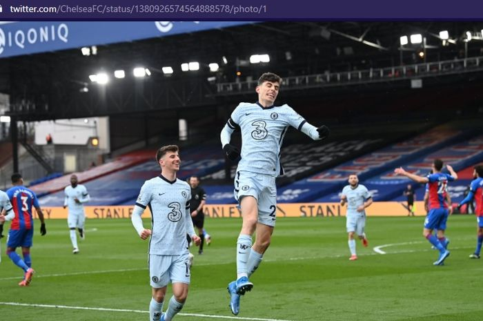 Gelandang serang Chelsea, Kai Havertz, akhirnya mengakhiri penantiannya sejak lama dan membantu Chelsea membantai Crystal Palace di babak pertama.
