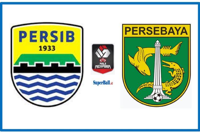 Persib Bandung kontra Persebaya Surabaya dalam perempat final Piala Menpora 2021 di Stadion Maguwoharjo, Sleman, DIY, Minggu (11/4/2021) malam WIB.
