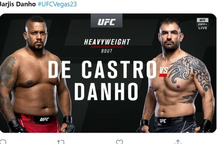Yorgan De Castro melawan Jarjis Danho di UFC Vegas 23.