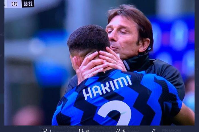 Achraf Hakimi sesumbar bahwa pelatih Inter Milan, Antonio Conte, bisa membawa timnya mendominasi Liga Italia dan kompetisi Eropa.