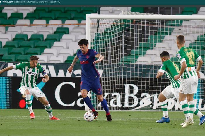 Atletico Madrid hanya meraih hasil imbang 1-1 melawan Real Betis dalam lanjutan laga pekan ke-30 Liga Spanyol 2020-2021.