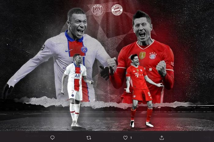 Leg kedua perempat final Liga Champions 2021 antara PSG vs Bayern Muenchen di Stadion Parc des Princes pada Rabu (14/4/2021) pukul 02.00 WIB.