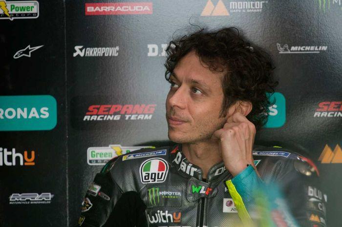 Pembalap tim Petronas Yamaha SRT untuk seri MotoGP 2021, Valentino Rossi.
