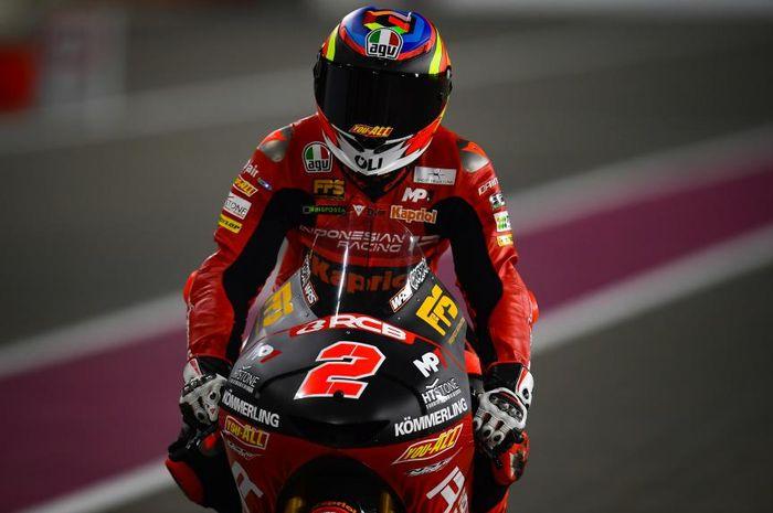 Pembalap 'Tim Indonesia', Gabriel Rodrigo tampil mengesankan di sesi FP2 Moto3 Portugal 2021.