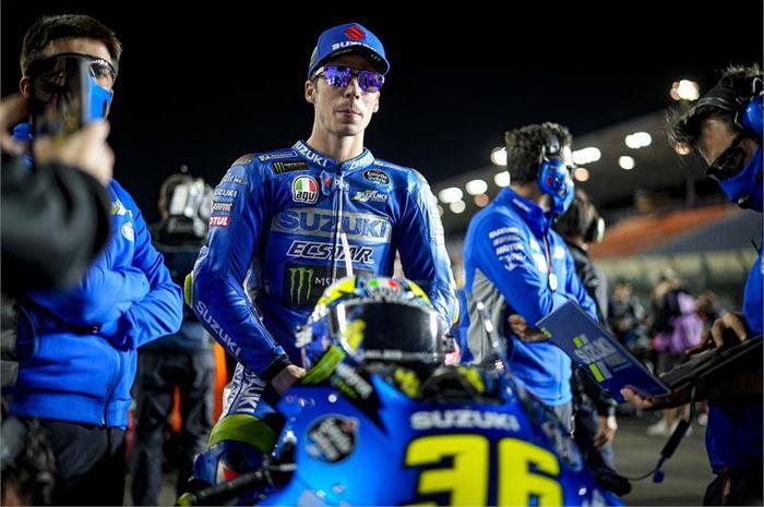 Joan Mir tantang Marc Marquez pada MotoGP Portugal 2021.