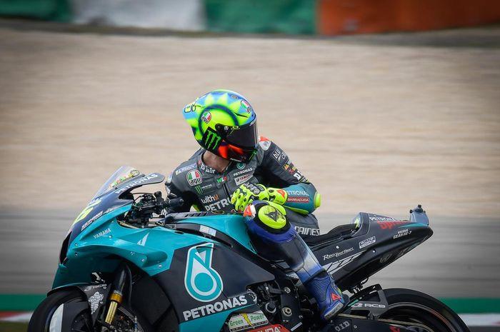 Perjuangan mencari starting grid terbaik menurut hasil kualifikasi MotoGP Portugal 2021 bagi pembalap Petronas Yamaha SRT, Valentino Rossi.