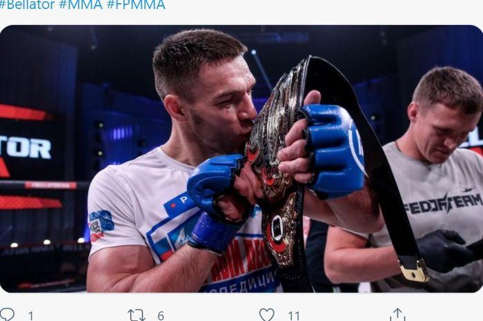 Juara kelas berat ringan, Vadim Nemkov.