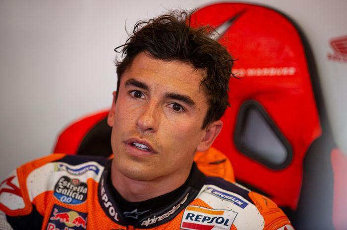 Pembalap Repsol Honda, Marc Marquez, pada seri balap MotoGP Portugal di Sirkuit Algarve, Portimao, MSabtu (17/4/2021).