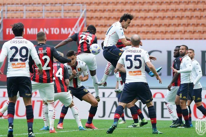 AC Milan berhasil menorehkan kemenangan kandang perdana setelah 4 laga terakhir  gagal meraih kemenangan di Liga Italia 2020-2021.
