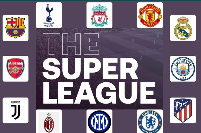 Ilustrasi 12 klub penggagas European Super League.