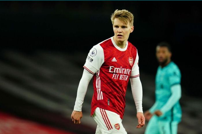 Pemain Arsenal pinjaman dari Real Madrid, Martin Odegaard.