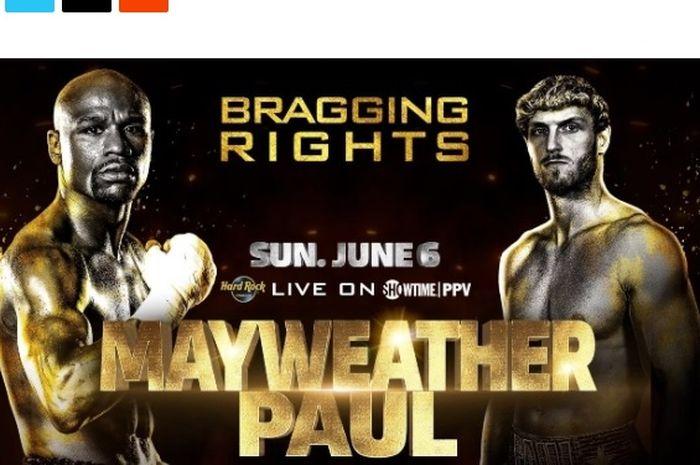 Laga tinju eksibisi antara Floyd Mayweather vs Logan Paul resmi terhelat pada 6 Juni 2021
