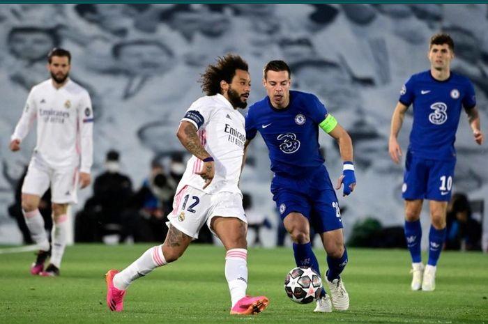 Real Madrid terancam tidak diperkuat Marcelo pada laga leg kedua semifinal Liga Champions 2020-2021 menghadapi Chelsea di Stamford Bridge.