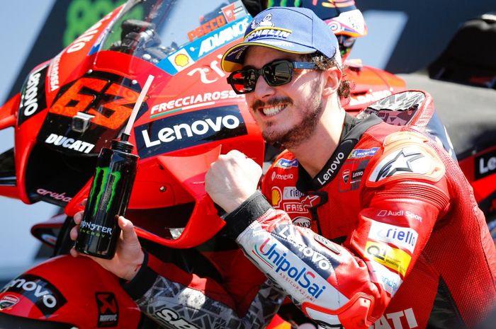 Pembalap Ducati, Francesco Bagnaia di puncak klasemen sementara usai MotoGP Spanyol 2021