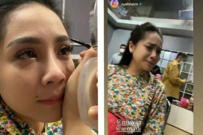Nagita menangis ditinggal Nisya