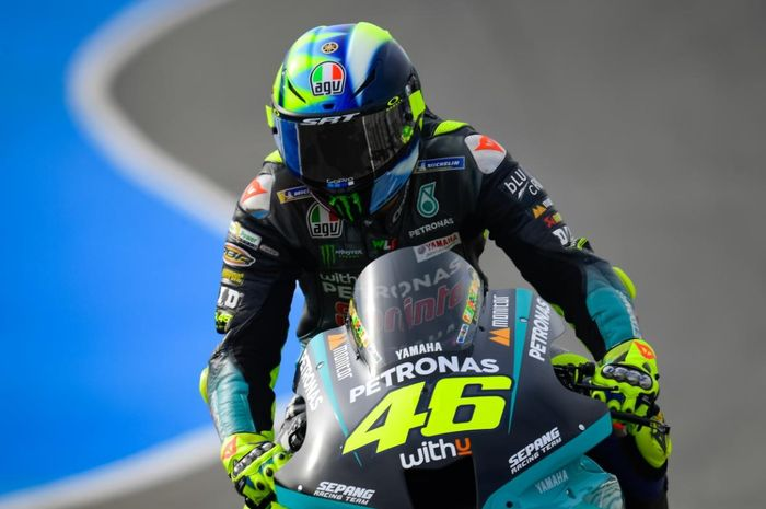 Pembalap kelas MotoGP yang bertarung di bawah payung Petronas Yamaha SRT, Valentino Rossi.