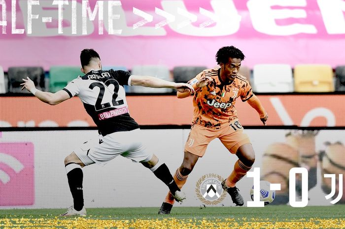 Duel Juan Cuadrado dengan salah satu pemain <a href='https://manado.tribunnews.com/tag/udinese' title='Udinese'>Udinese</a>, dalam laga Minggu (2/5/2021) di <a href='https://manado.tribunnews.com/tag/liga-italia' title='LigaItalia'>LigaItalia</a>.