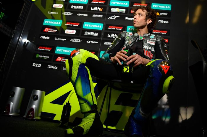 Pembalap Petronas Yamaha SRT, Valentino Rossi, pada balapan GP Spanyol di Sirkuit Jerez, Minggu (2/5/2021).