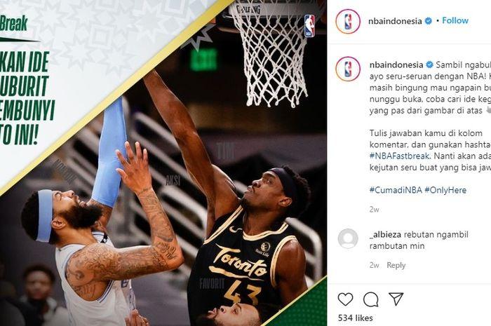 Kampanye #NBAFastBreak selama Bulan Ramadan di media sosial NBA Indonesia.