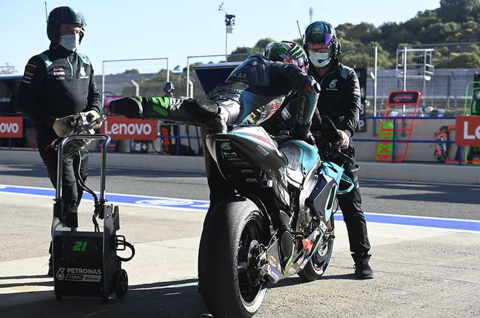 Motor Yamaha YZR-M1 miliknya diupdate, begini komentar pembalap tim Petronas Yamaha SRT, Franco Morbidelli.