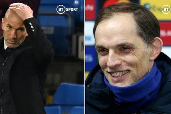 Pelatih Chelsea, Thomas Tuchel, menjadi juru taktik yang kebal terhadap kekalahan saat melawan pelatih Real Madrid, Zinedine Zidane.