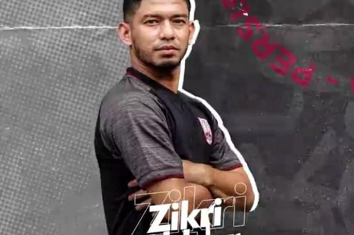 Pemain Persis Solo, Zikri Akbar, yang pernah bermain di Liga Paraguay