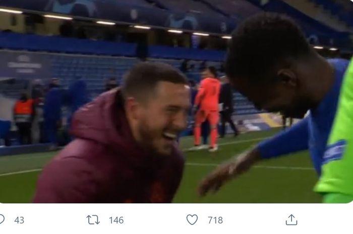 Eden Hazard malah tertawa-tawa setelah Real Madrid tersingkir dari Liga Champions.