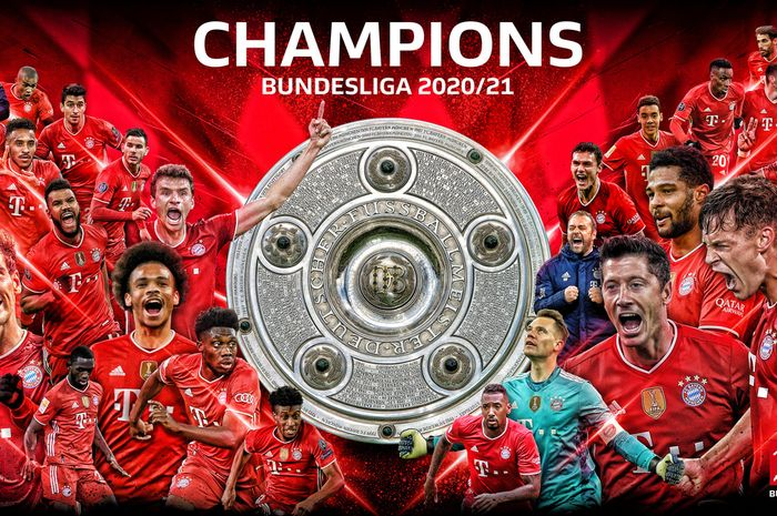 Bayern Muenchen resmi menyegel gelar juara Bundesliga 2020-2021 setelah RB Leipzig ditekuk Borussia Dortmund.