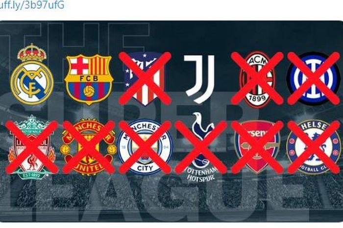 Tiga klub raksasa Eropa yaitu Real Madrid, Barcelona, dan Juventus bersikeras tetap dalam rencana mendukung European Super League.