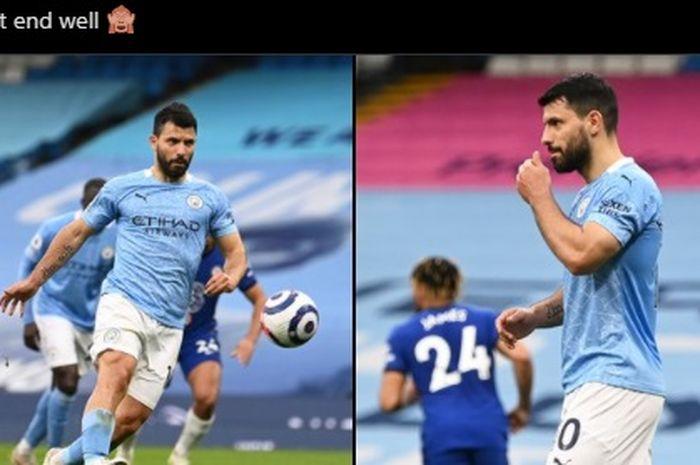Pelatih Manchester City, Pep Guardiola, tak mau mengkritik panenka Sergio Aguero yang ditangkap satu tangan oleh Edouard Mendy.