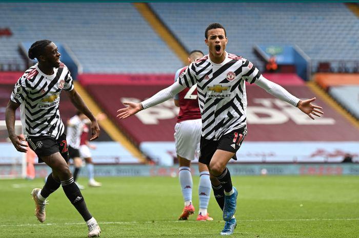 Manchester United berhasil menang comeback atas Aston Villa setelah memetik kemenangan 3-1 pada laga pekan ke-35.