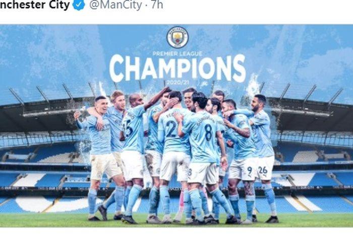 Manchester City juara Liga Inggris 2020-2021.