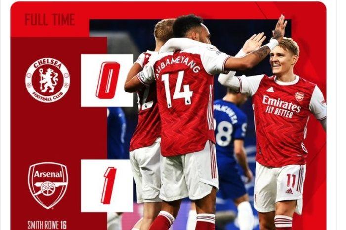 Arsenal berhasil mencuri angka penuh dari Stamford Bridge usai menaklukkan sang pemilik kandang, Chelsea, dengan skor 0-1.