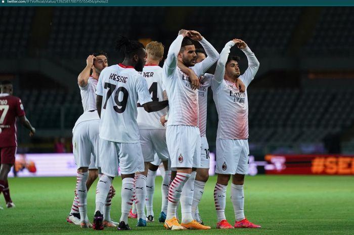 AC Milan memetik kemenangan fantastis atas Torino dalam lanjutan laga pekan ke-36 Liga Italia dengan skor telak 7-0.