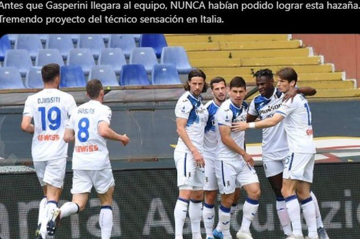 Atalanta sukses bungkam Genoa dengan skor 4-3 dalam laga lanjutan Liga Italia