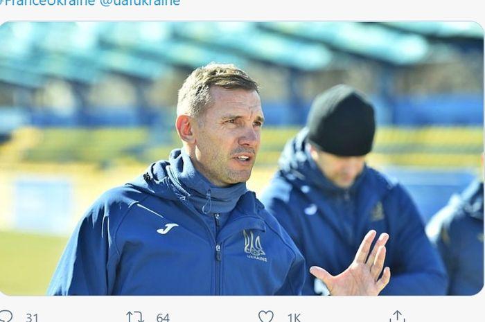 Pelatih timnas Ukraina, Andriy Shevchenko.