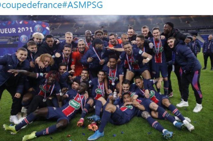 Paris Saint-Germain berhasil mengukuhkan diri sebagai kampiun Piala Prancis 2020-2021.