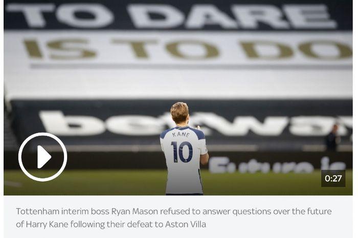 Penyerang Tottenham Hotspur, Harry Kane.