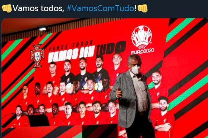 Pelatih timnas Portugal, Fernando Santos.